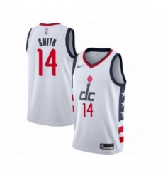 Youth Washington Wizards Ish Smith Swingman White Basketball Jersey 2019 20 City Edition