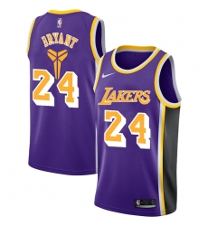 Lakers 24 Kobe Bryant Purple Nike Swingman Jersey