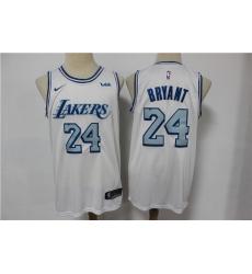 Lakers 24 Kobe Bryant White 2020-21 City Edition Nike Swingman Jersey