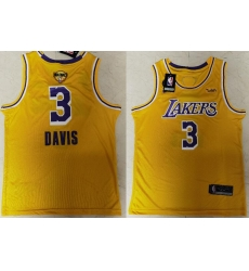 Lakers 3 Anthony Davis Yellow KB 2020 NBA Finals Nike Swingman Jersey