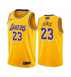 LeBron James Los Angeles Lakers 2020 NBA Finals Bound Gold Jersey Icon Edition