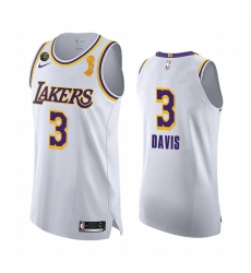 Los Angeles Lakers 2020 NBA Finals Champions Anthony Davis White Social justice Jersey Association