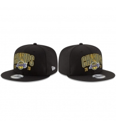 Los Angeles Lakers 2020 NBA Finals Champions Black Snapback Adjustable Hat