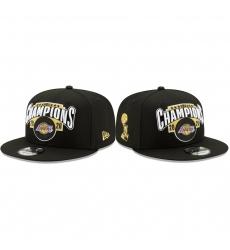 Los Angeles Lakers 2020 NBA Finals Champions Black locker room Hat