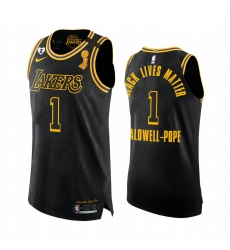 Los Angeles Lakers 2020 NBA Finals Champions Kentavious Caldwell-Pope Black Mamba Authentic Jersey BLM