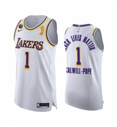 Los Angeles Lakers 2020 NBA Finals Champions Kentavious Caldwell-Pope White BLM Jersey Association