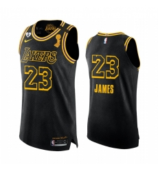 Los Angeles Lakers 2020 NBA Finals Champions LeBron James Black Mamba Authentic Jersey Social justice