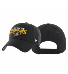 Los Angeles Lakers 2020 NBA Finals Champions MVP Black Adjustable Hat