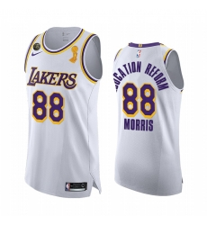 Los Angeles Lakers 2020 NBA Finals Champions Markieff Morris White Education Reform Jersey Association