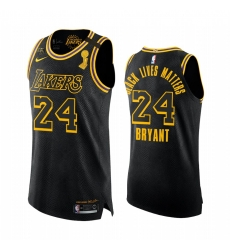 Los Angeles Lakers 2020 NBA Finals Champs Authentic Kobe Bryant Black Honors Mamba and Gigi Jersey