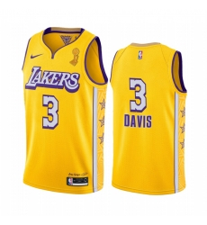 Los Angeles Lakers Anthony Davis 2020 NBA Finals Champions Jersey Gold Social justice