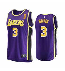 Los Angeles Lakers Anthony Davis 2020 NBA Finals Champions Jersey Purple Replica Statement
