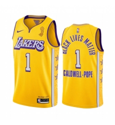 Los Angeles Lakers Kentavious Caldwell-Pope 2020 NBA Finals Champions Jersey Gold BLM