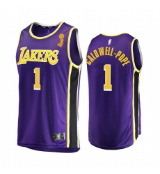 Los Angeles Lakers Kentavious Caldwell-Pope 2020 NBA Finals Champions Jersey Purple Replica Statement