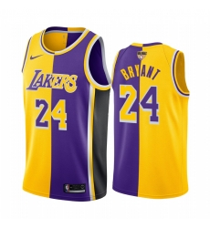 Los Angeles Lakers Kobe Bryant 2020 NBA Finals Bound Gold Purple Jersey Split Special Edition