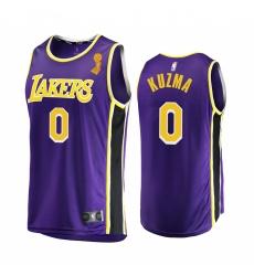 Los Angeles Lakers Kyle Kuzma 2020 NBA Finals Champions Jersey Purple Replica Statement