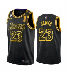 Los Angeles Lakers LeBron James 2020 NBA Finals Champions Jersey Black Mamba Inspired