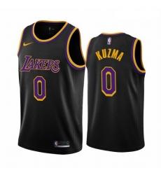Men Los Angeles Lakers 0 Kyle Kuzma Black NBA Swingman 2020 21 Earned Edition Jersey