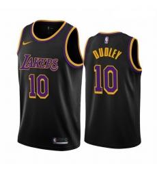 Men Los Angeles Lakers 10 Jared Dudley Black NBA Swingman 2020 21 Earned Edition Jersey