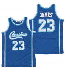 Men Los Angeles Lakers 23 Lebron James Blue Swingman Jersey