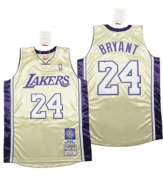Men Los Angeles Lakers 24 Kobe Bryant Yellow 2008 09 Throwback Jerseys 1996 2016 u540D u4EBA u5802 u6B3E