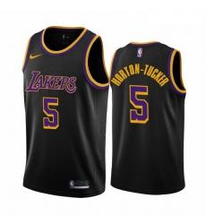 Men Los Angeles Lakers 5 Talen Horton Tucker Black NBA Swingman 2020 21 Earned Edition Jer