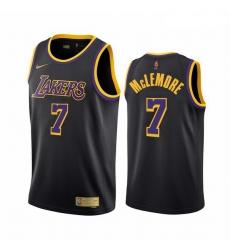 Men Los Angeles Lakers 7 Ben McLemore Black NBA Swingman 2020 21 Earned Edition Jersey