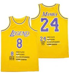 Men Los Angeles Lakers 8  26 24 Kobe Bryant Yellow Swingman Fashion Jersey