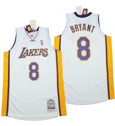 Men Los Angeles Lakers 8 Kobe Bryant white 2003 04 Throwback Jerseys