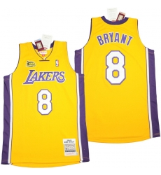 Men Los Angeles Lakers 8 Kobe Bryant yellow 2003 04 Throwback Jerseys