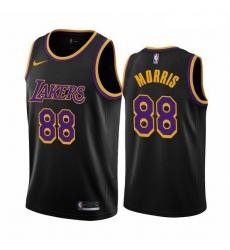Men Los Angeles Lakers 88 Markieff Morris Black NBA Swingman 2020 21 Earned Edition Jersey