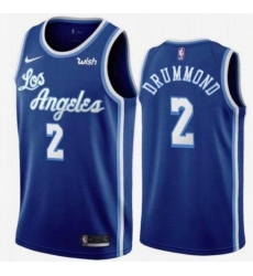 Men Los Angeles Lakers Andre Drummond 2 Basketball Blue Jersey