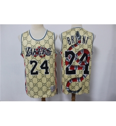 Men Los Angeles Lakers Kobe Bryant 24 Gucci Limited Jersey