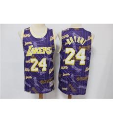 Men Los Angeles Lakers Kobe Bryant 24 hwc jersey tear up pack Swingman Jersey
