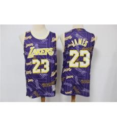 Men Los Angeles Lakers Lebron James 23 hwc jersey tear up pack Swingman Jersey