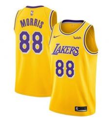 Men Nike Los Angeles Lakers 88 Markieff Morris Gold NBA Swingman Icon Edition Jersey