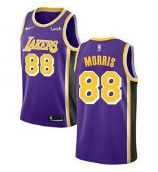 Men Nike Los Angeles Lakers 88 Markieff Morris Purple NBA Swingman Statement Edition Jersey