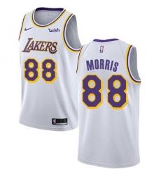 Men Nike Los Angeles Lakers 88 Markieff Morris White NBA Swingman Association Edition Jersey