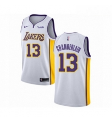 Mens Los Angeles Lakers 13 Wilt Chamberlain Authentic White Basketball Jersey Association Edition