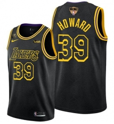 Men's Los Angeles Lakers #39 Dwight Howard 2020 Western Conference Champions Black Mamba Inspired Stitched NBA Jersey