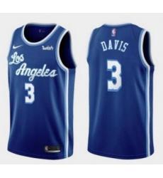 Men's Los Angeles Lakers Anthony Davis 2020 Classics Blue Jersey