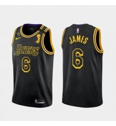 Men's Los Angeles Lakers LeBron James #6 Jersey Black Mamba 2021-22