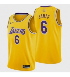 Men's Los Angeles Lakers LeBron James #6 Jersey Gold Icon 2021-22