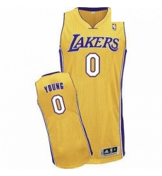 Revolution 30 Lakers 0 Nick Young Yellow Stitched NBA Jersey