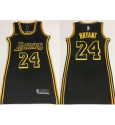 Women Los Angeles Lakers 24 Kobe Bryant Black Nike Swingman Jersey
