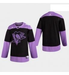 Penguins Hockey Fights Cancer Practice Black Jersey