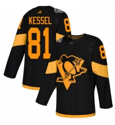 Womens Adidas Pittsburgh Penguins 81 Phil Kessel Black Authentic 2019 Stadium Series Stitched NHL Jersey