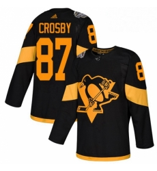 Womens Adidas Pittsburgh Penguins 87 Sidney Crosby Black Authentic 2019 Stadium Series Stitched NHL Jersey