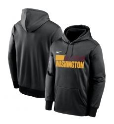 Men Washington Football Team Nike Sideline Impact Lockup Performance Pullover Hoodie Black
