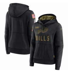 Women Buffalo Bills Nike 2020 Salute to Service Performance Pullover Hoodie Black
